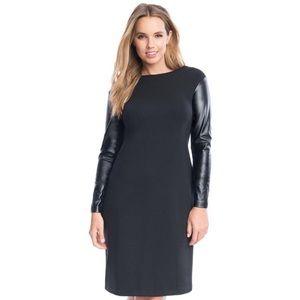 Eloquii Studio Faux Leather Sleeve Dress Size 16